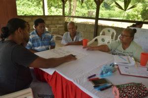 dorpelingen bespreken de prioriteiten van de gemeenschap Cupido